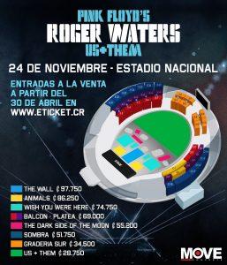 precios de entradas roger waters costa rica