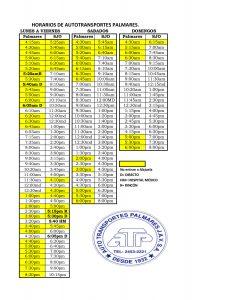 horario de buses fiestas de palmares